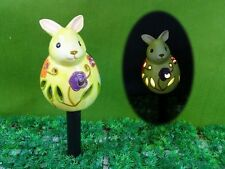 Rabbit garden Decoration,Best ceramic Solar Light,LED colour changing, H44cm