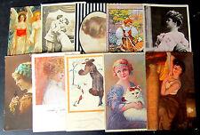 Donnine e Innamorati - Lotto da 10 cartoline - 7 viaggiate