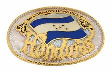 REPUBLIC OF HONDURAS CENTRAL AMERICAN COUNTRY NATION BELT BUCKLE PERFECT GIFT.