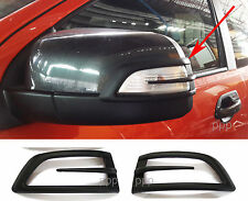 ABS MATTE BLACK SIDE MIRROR INDICATOR COVER FORD RANGER T6 PX XLT 2012 2013 2014