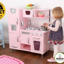 Kidkraft Vintage Pretend Play Kids Wooden Kitchen Set in Pink 53179 New