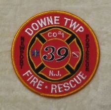 """Downe Twp Fire Rescue Patch - New Jersey - 4"""" x 4"""" Newport Fortescue"""