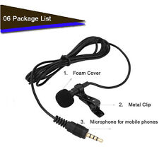 External Clip-on Lapel Mini Lavalier Microphone For iPhone Samsung Laptop~HOT
