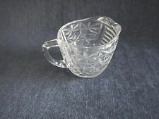 Vintage Anchor Hocking Thousand Lines Clear Pressed Glass Creamer