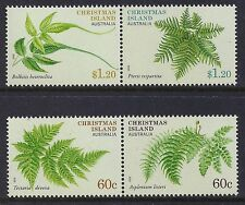 2012 CHRISTMAS ISLAND FERNS SET OF 4 FINE MINT MNH/MUH