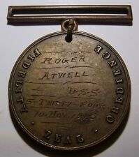 "1925 USS S-34 Submarine"" US Navy Good Conduct Medal - ""Roger Atwell"""