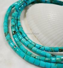 100% Natural Turquoise Kingman Arizona USA Heishi Rondelle Bead 3 MM 16""
