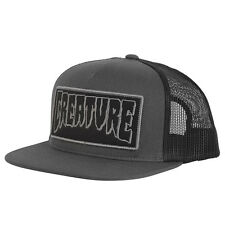 Creature Patch Trucker Hat Mesh Back Snapback Dark Grey Black OG Skateboard NEW
