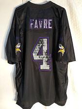 Reebok Premier NFL Jersey Vikings Brett Favre Black Retro sz XL