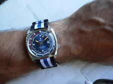 BRACELET NATO JAMES BOND BLANC/BLEU/NOIR 18mm IDEAL NAUTIC SKI OU YEMA SUPERMAN