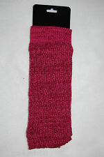 Womens Leg Warmers  BURGUNDY Pink COZY Exercise WARM