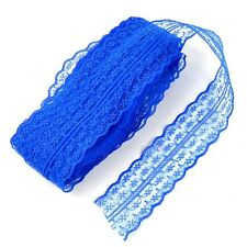 10 Yards Elastic Stretch Net Lace Trim Ribbon DIY Sewing Embroidered Decor 45mm