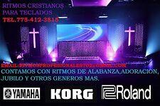 RITMOS CRISTIANOS PARA KORG PA900,PA600,PA300,PA3X,PA4X,PA50. SOLO TECLADOS KORG