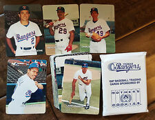 1987 MOTHERS COOKIES TEXAS RANGERS CARD SET VALENTINE HOUGH WILLIAMS SIERRA SGA