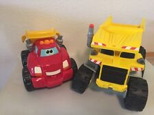 Lot of 2 Interactive Talking Trucks Matchbox Rocky & Tonka Chuck VGUC