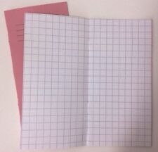 2x 1cm Narrow Thin Squared Exercise Book KS1/2 Multiplication Number Graph Paper