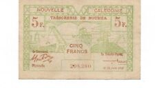 1943 New Caledonia 5 franc Currency Note