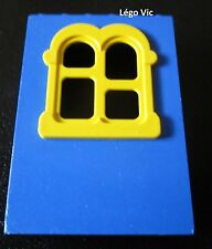 Lego Fabuland x637c02 Window Fenêtre Bleu Blue Jaune Yellow du 3666 + sticker