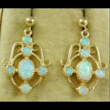 OPAL GOLD EARRINGS 2.50CT OPAL 9CT GOLD STUD EARRINGS
