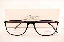 New Silhouette Eyeglass Frames SPX ILLUSION 2888 6050 Black Women Men SZ 55