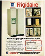 Publicité Advertising 1980 Les refrigerateurs et congelateurs Frigidaire