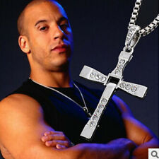 Unisex's Men Cool Silver Stainless Steel New Cross Pendant Necklace Chain WT