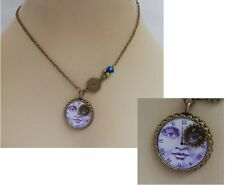 Steampunk Moon Face Pendant Necklace Jewelry Handmade NEW Cosplay Gears