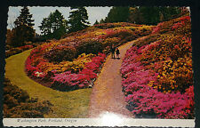 VINTAGE POST CARD WASHINGTON PARK ROSE GARDEN  PORTLAND OREGON