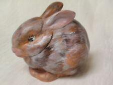 CERAMIC POTTERY HAND PAINTED RABBIT FIGURINE