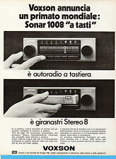 (AM) EPOCA974-PUBBLICITA'/ADVERTISING-1974-VOXSON SONAR 1008 A TASTI