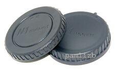 Body cap & Rear Lens cap ,  fits  Nikon  1  Compact System Cameras CSC & Lenses