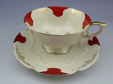 Vintage Bavaria Schumann Red Tea Cup And Saucer