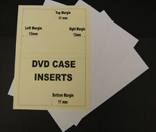 25 Sheets Of 120gsm Inkjet Printable Matt DVD Library Case Inserts Inlays