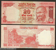 ★ ES-01 ~ Rs.20/- Y.V Reddy Star Note 'PL' Inset ~ Prefix 09A ~ 2006 UNC ★ bb85