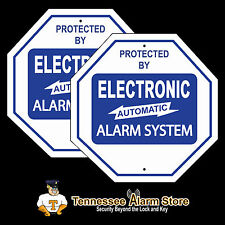 2 Security Burglar Alarm System Yard / Gate Signs