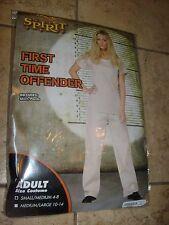 Adult Woman Halloween Costume SeXy First Time Offender Prison SZ SMALL / MED NEW