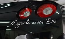 Legends Never Die Low Fun JDM Stance Japan Car Windshield Vinyl Sticker Decal