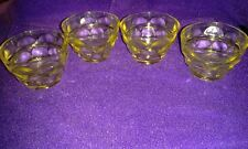 Vintage Yellow Depression Glass Condiment Cups; Set of 4