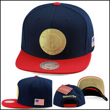 Mitchell & Ness Brooklyn Nets Snapback Hat NAVY/USA jordan 7 olympic foamposite