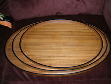 GIFT IDEAS CREATION SET OF 3 OVAL PLATTERS