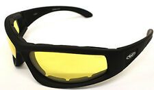 Reactalight Yellow Lens to Dark WIDE FIT Motorcycle Padded Rider Sunglasses S5