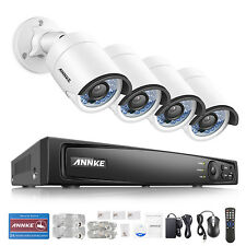 ANNKE 1080P POE 4CH 6MP Surveillance NVR 4MP Outdoor Security Camera System DNR