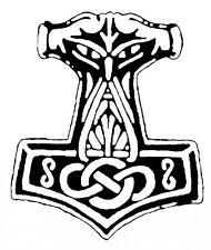 Autoaufkleber - Thorhammer 3 (Schwarz)