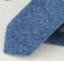 New Country Soft Cotton Blue Skinny Tie. Excellent Quality & Reviews. Uk.