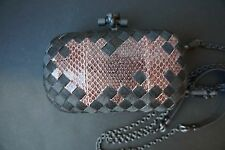 AUTHENTIC BOTTEGA VENETA KNOT CLUTCH IN PINK AYERS WITH DETACHABLE STRAP