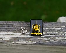 "Yellow Spider Dangling Target Logo ""igug.org"" Metal Pin Pinback Black Fangs"