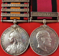 BRITISH ARMY BOER WAR QUEENS SOUTH AFRICA & NATAL MEDAL YEOMANRY & DURBAN L.I.