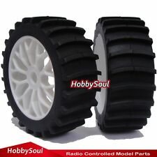 RC 1:8 Baja Buggy Wheels & Snow / Sand  Paddle Tires Set (2 pcs) for HPI