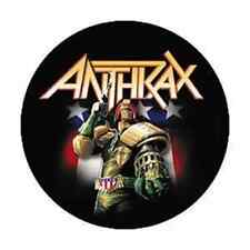 ANTHRAX 1-inch BADGE Button Pin Judge Dredd NEW OFFICIAL MERCHANDISE
