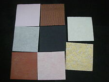 CREATIVE Handmade EMBOSSED Paper Pack 8 Sheets 6x6 NEW Ass Colours 8 Designs